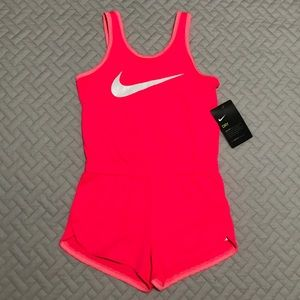 NWT BackToSchool Girls Nike DRYFIT Pink Romper